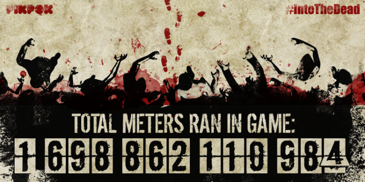Almost 2 Trillion meters have been run in-game