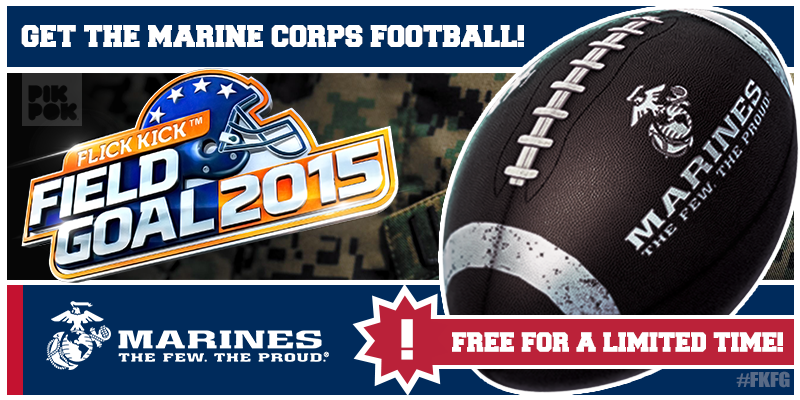 Flick Kick Field Goal 2015 Marine Corps Edition PikPok PikPok